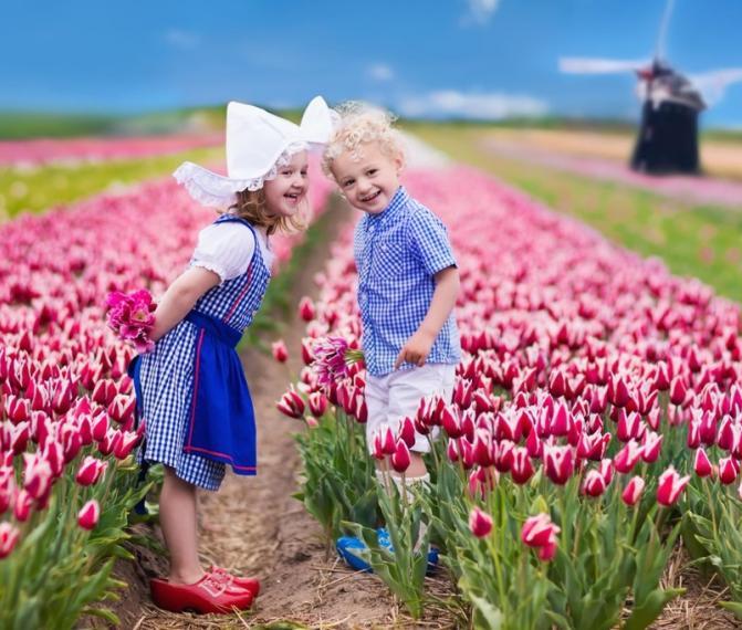 Nizozemsko+Keukenhof / Holándska vesnice